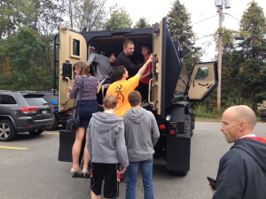 Getting into the SWAT truck. Photo by Shane Fitzgerald