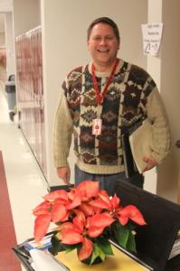 Mr. Pastore in full Christmas spirit!