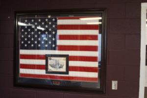 The Class of 2011 donated this flag, flown in Afghanistan on 9/11/2001, to the school and it remains in the front lobby of the high school.