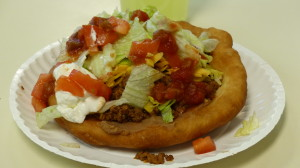 A completed Indian Taco.