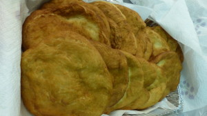 A pile of completed fry bread.