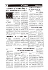 "1996 Avonews review of Nirvana's ""From the Muddy Banks of the Wishkah"" and Tool's ""Anema"""
