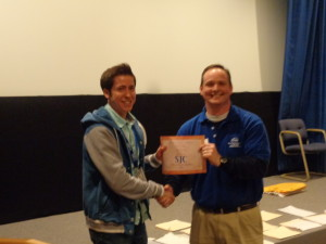 Ryan presented with his 1st place certificate from a PSPA executive staff member.