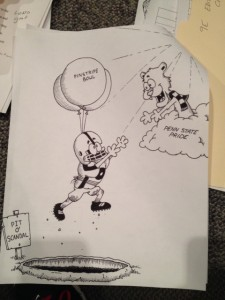 David's winning cartoon, created in one sitting and one draft.