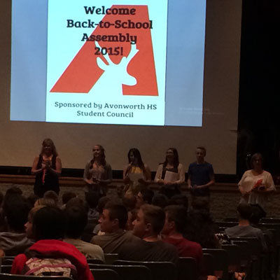 Student Led Welcome Back Assembly Highlights New Staff for 15-16