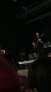 View of Mayday Parade's lead singer Derek Sanders from the pit--no zoom