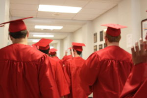 Avonworth Holds First Senior Walk for Class of 2016