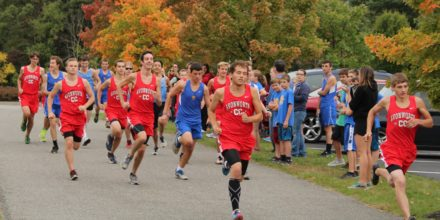 Senior Cross Country Runners Take a Victory Lap