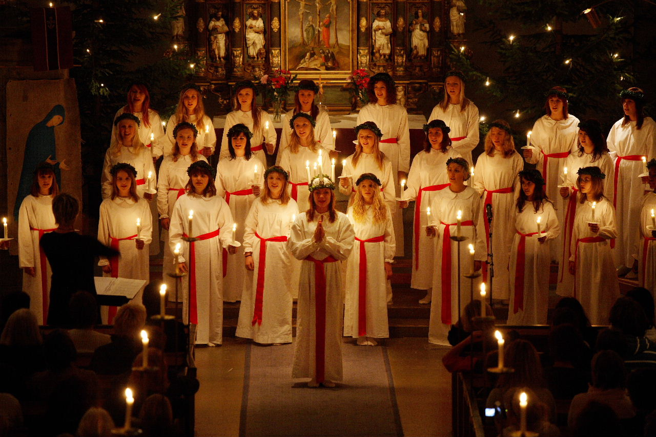 Lucia, or December 13th, the days when all Swedes put on a nightgown to sing