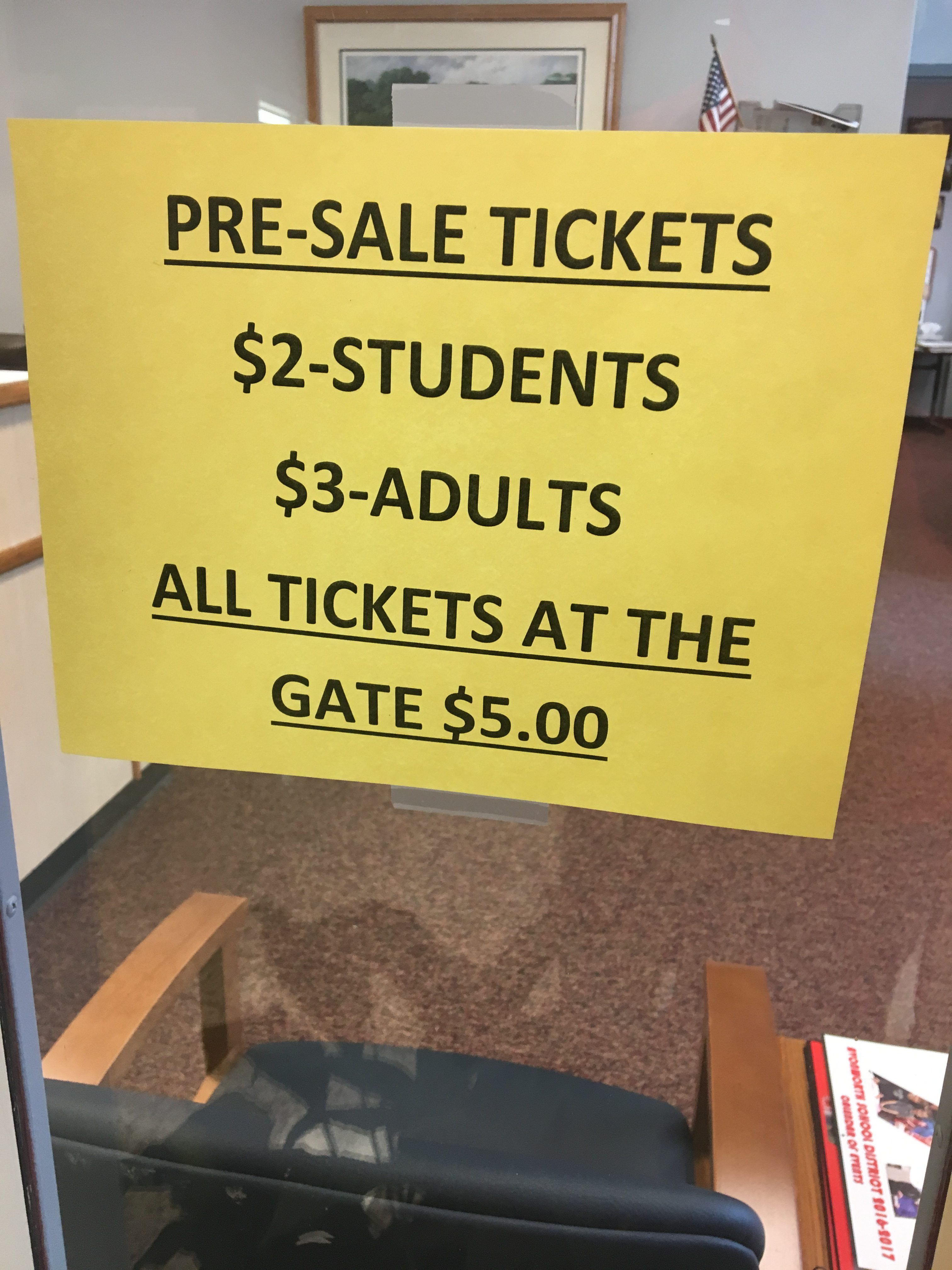 Winter Ticket Sales in Office Need Student Support
