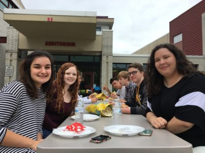Seniors Recognized With Career Academy Cookout