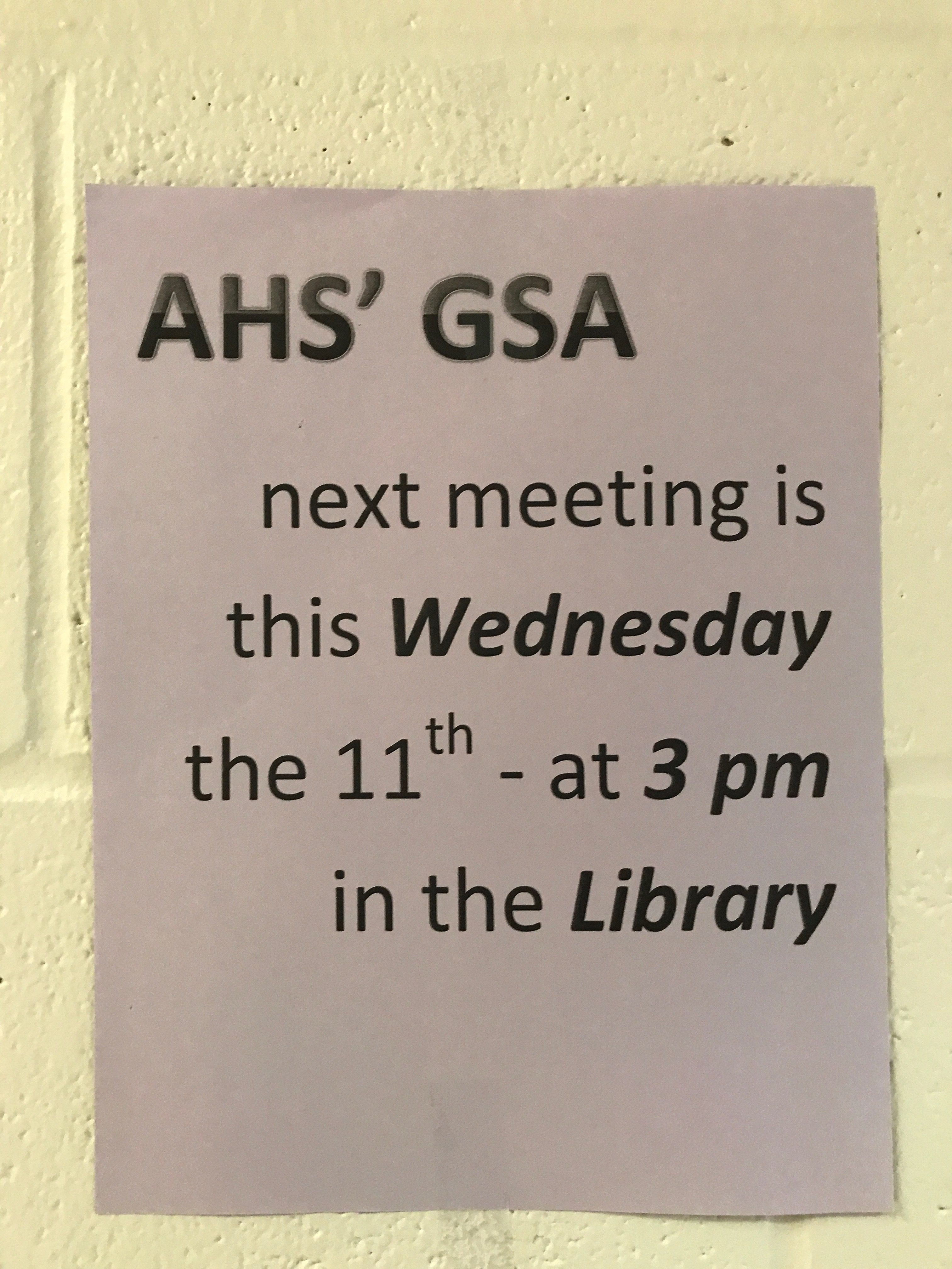Club Meetings Start and Sort Out Times