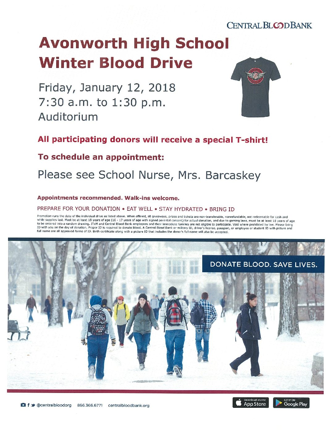 Be a Lifesaver – Blood Drive Friday Jan 12th