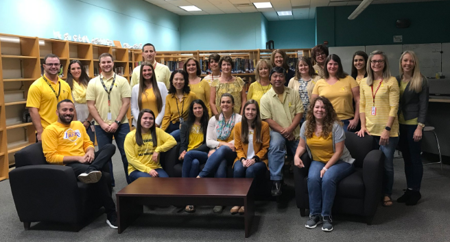 Avonworth is Painted Yellow For Childhood Cancer Awareness