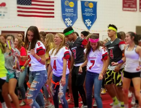 Black Light Energizes Homecoming Rally 2019