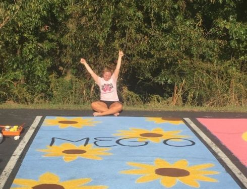 Sunflowers, freckles, and memes, oh my! Painting Senior Parking Spots