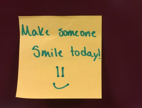 Key Club Posts Positivity Post-It Notes Around School