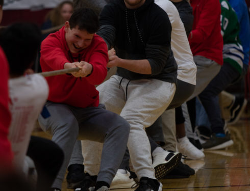 Tug of War Contest Brings Energy to Pep Rally