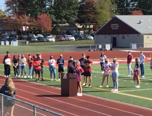 Homecoming Pep Rally Held At Lenzner Field Due To COVID