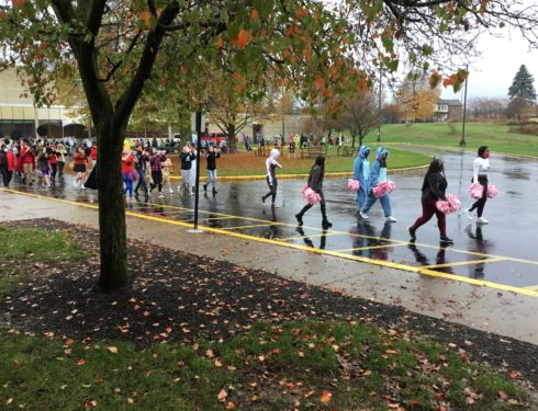 Senior Halloween Parade Goes On Through The Rain