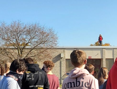 Girls Soccer Gets Surprise Cheer During Fire Drill